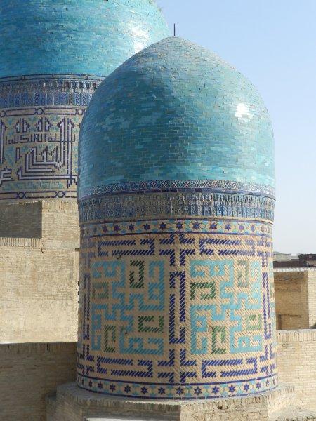 Cúpulas do mausoléu Shakhi-Zinda