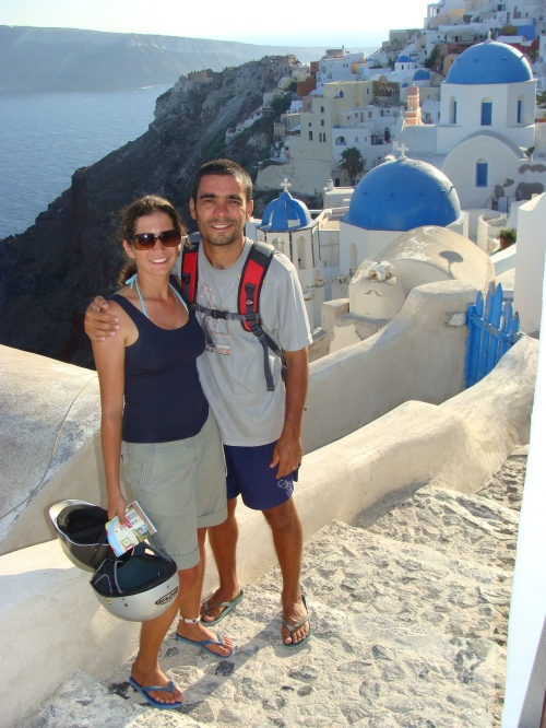 Nossa passagem por Santorini - Grécia