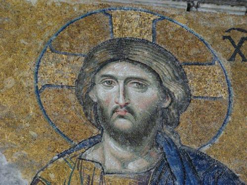 Mosaico de Jesus dentro da Mesquita Ayasofya