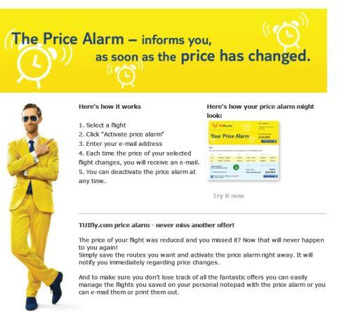 Despertador de preços, genial
