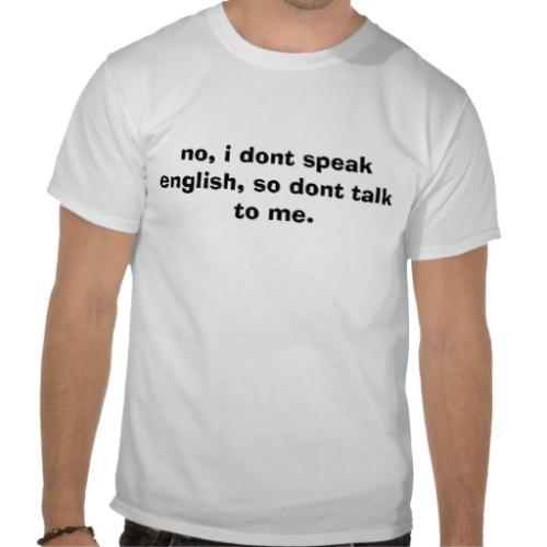 Na França: no english