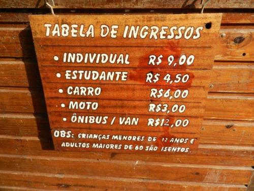 Tabela de preços Núcleo do Engordador - Serra da Cantareira