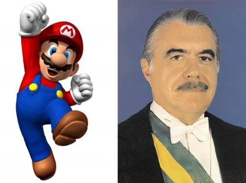 no lugar dele ficou o Mario Bros que está lá até hoje