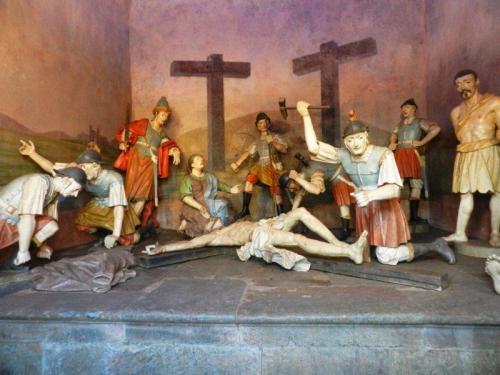 A última capela mostra a crucificação de Jesus