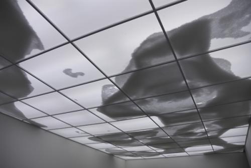 Ratos que nada, são as bolinhas de isopor que passeiam pelo teto. Continente Nuvem obra de Rivane Neuenschwander. Foto do site http://www.inhotim.org.br/