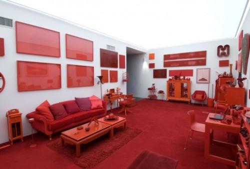Dói até o olho. Desvio para o vermelho, obra de  Cildo Meireles. Foto do site http://www.inhotim.org.br/