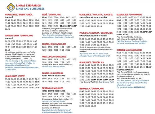 Click to see timetable and destinations