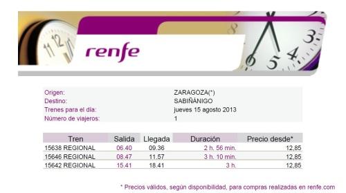 De qualquer cidade da Espanha a Zaragoza e de lá a Sabiñanigo