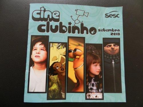 Encarte com a programação de setembro do Cineclubinho
