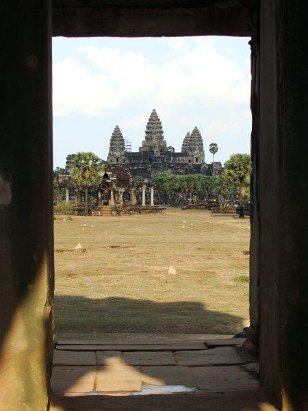Angkor Wat visto de um ângulo diferente