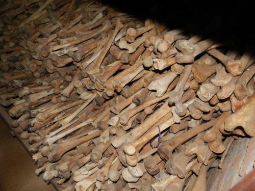 Milhares de ossos para relembrar a tragédia na igreja de Nymata