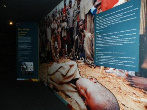 A tragédia documentada, interior do Memorial