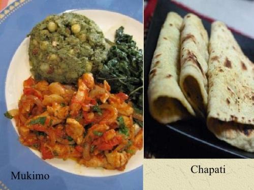 Mukimo e chapati, comidas muito comuns na África