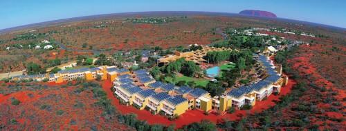 Vista aérea do Ayers Rock Resort