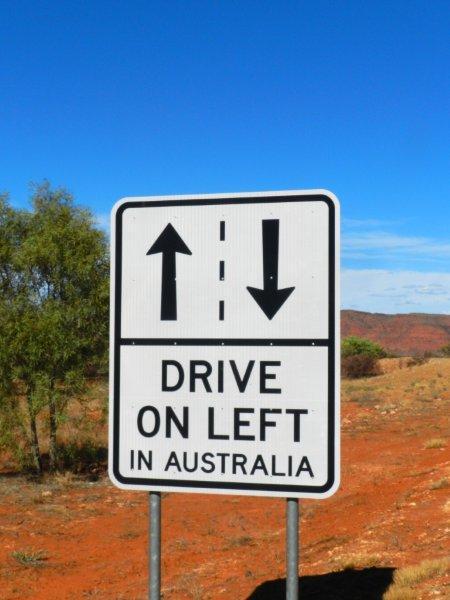 Na Austrália sempre a esquerda