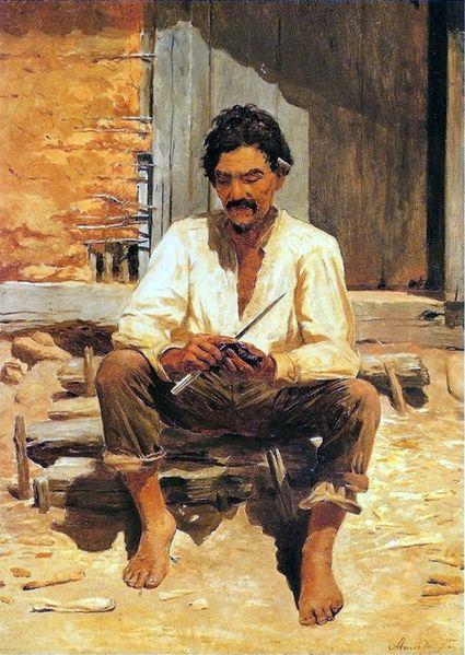 Caipira Picando Fumo de Almeida Júnior, minha obra favorita da Pinacoteca