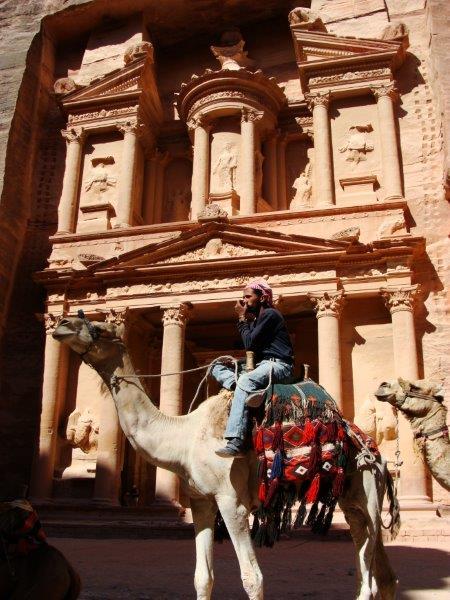 Tradicional foto de quem vai a Petra