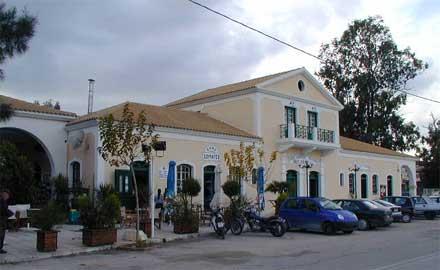 Fachada da rodoviária em Argostoli