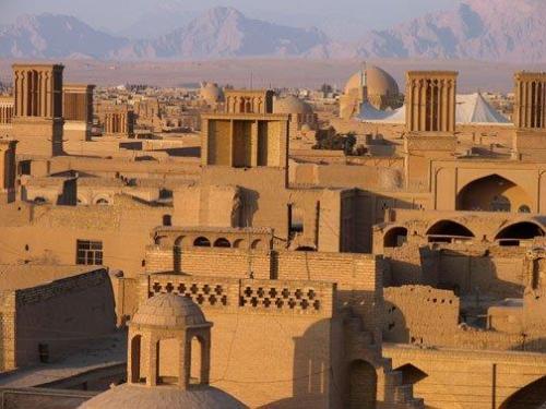 Vista da cidade antiga em Yazd