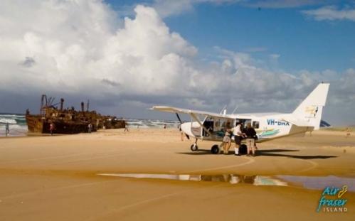 Pista de pouso do avião é a praia