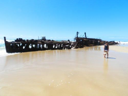 A imponência de Maheno Wreck