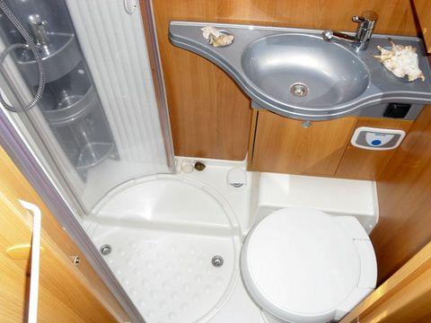 Banheiro de um motorhome