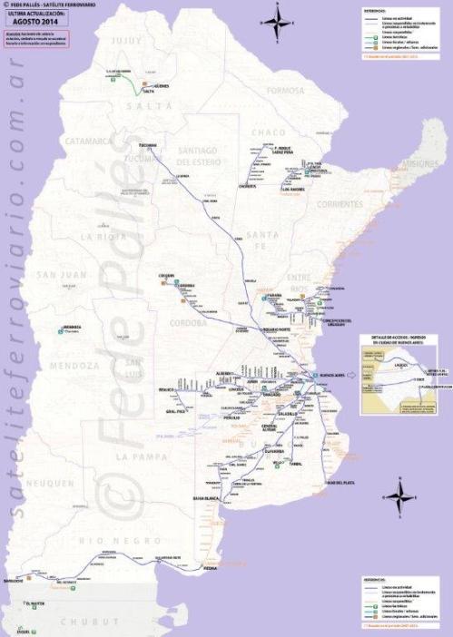 Mapa da rota até Tucumán de trem (Clique para ampliar)