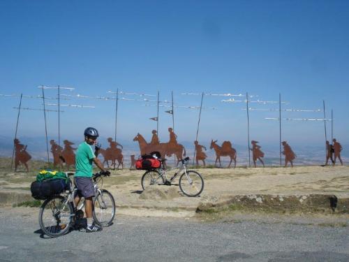 Mochila até viajando de bicicleta