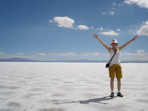 Um oceano de sal branco