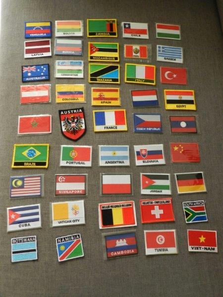 Patches de alguns países que já visitamos