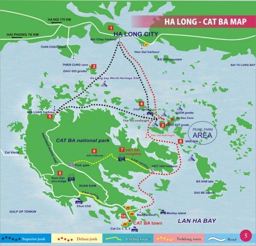 Mapa da região com todas as atrações