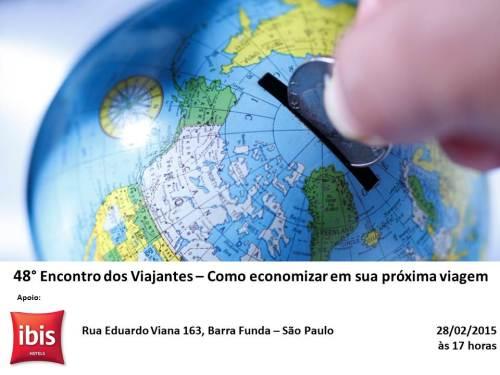 Convite 48 Encontro dos Viajantes - Economizando em viagens