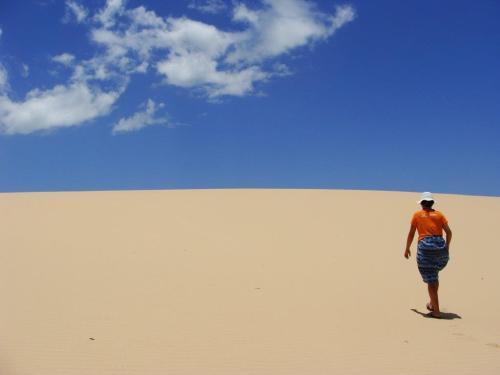 A cor da areia também é sensacional