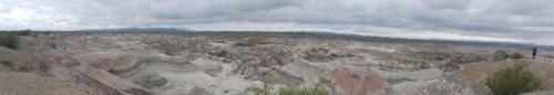 Vista panorâmica do Valle Pintado