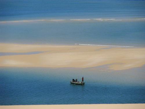 Vida dura dos pescadores, pelo menos a da vista não podem reclamar