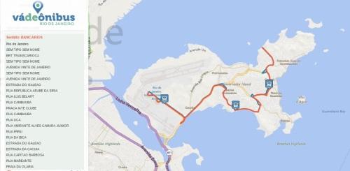Itinerário linha 925 (clique para ampliar)