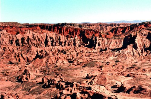 Vista da cratera onde fica Ciudad Perdida