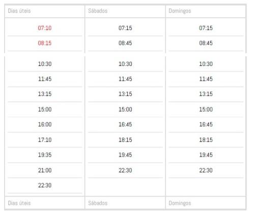 Horários de ônibus do aeroporto para Betim