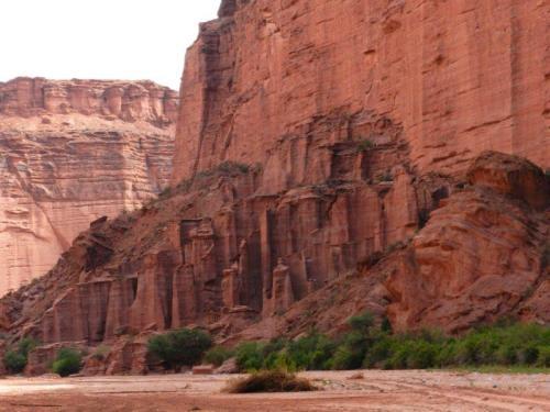 Formações rochosas no cânion