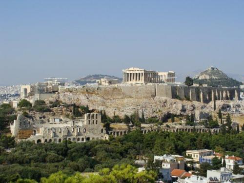 A tradicional vista de Acropolis