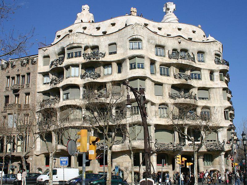 Casa mil la pedrera barcelona arquitetura espetacular quatro cantos do mundo - Natura casa barcelona ...
