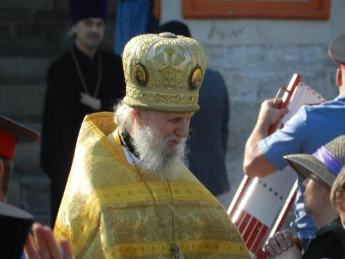 Por sorte encontramos o papa da Igreja Ortodoxa Russa por lá