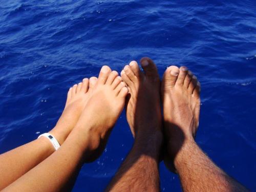 O mar aos nossos pés
