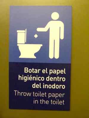 Este banheiro tinha manual de instrução
