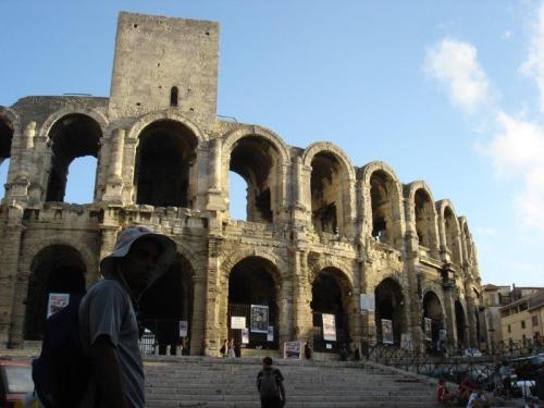 A diferente arquitetura da Arena de Arles
