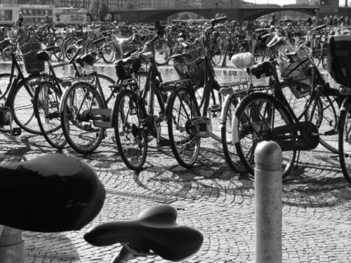 Bicicletas por todos os lados em Copenhague