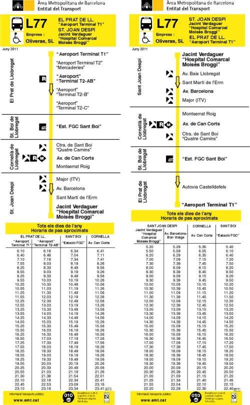 Detalhes da linha L77