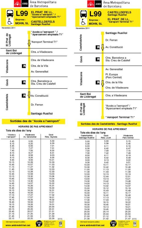 Detalhes da linha L99