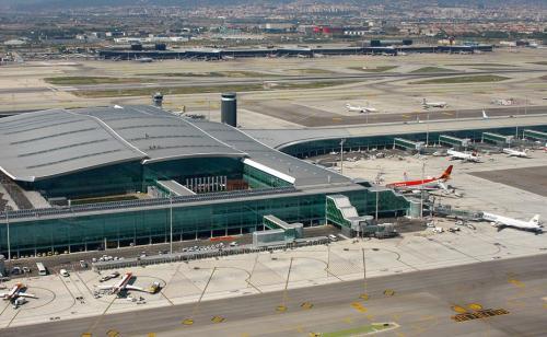 Visão aérea do aeroporto de El Prat