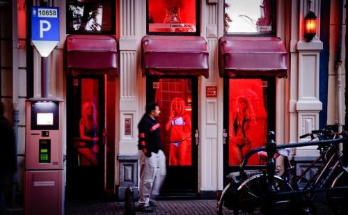 Paisagem comum nas ruas de Amsterdã